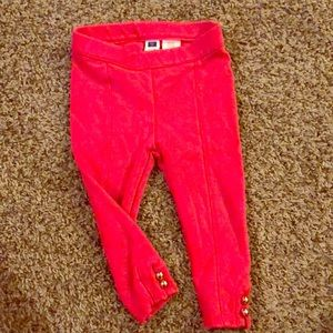 Janie and Jack girls hot pink ponte pant